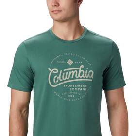 Columbia Path Lake Graphic T-shirt Herrer, thyme green round bound